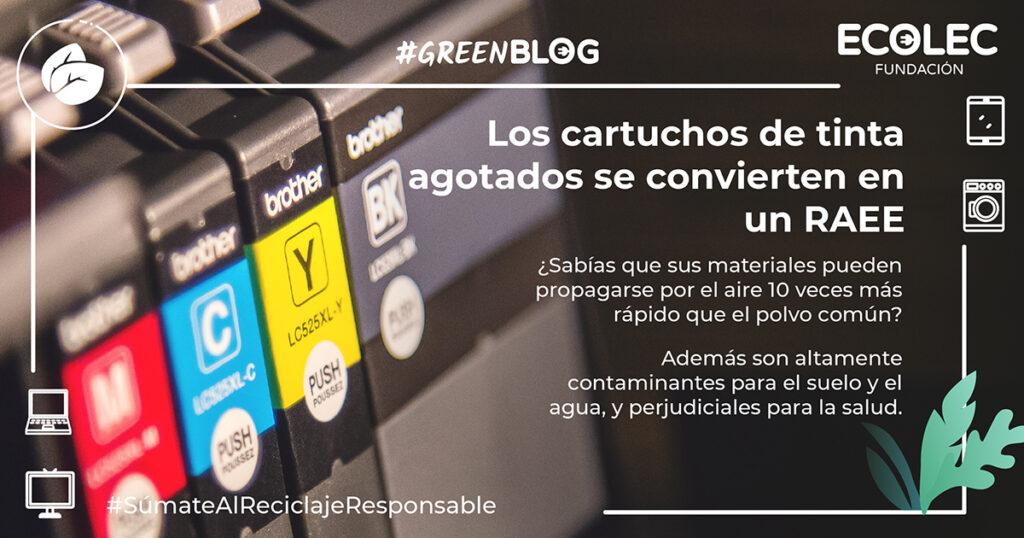 En 2018se estableció la obligatoriedad de reciclar los tóneres y cartuchos de tinta en calidad de RAEE