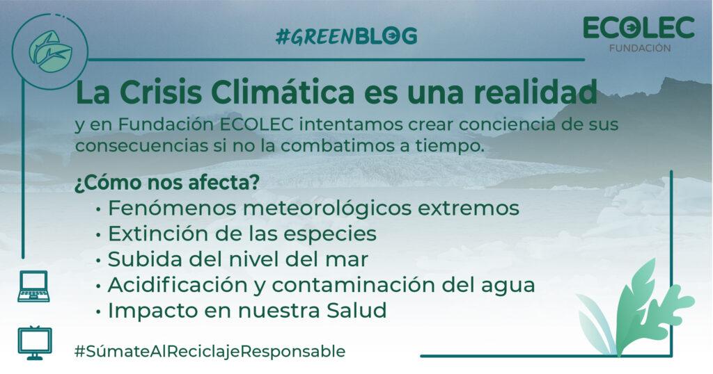 La Crisis Climática se ve como un problema lejano, pero es esencial ponerle remedio antes de que sea irreversible.