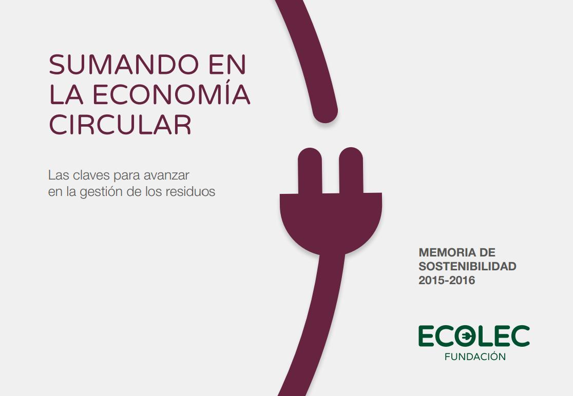 Memoria de sostenibilidad Ecolec 2015-2016